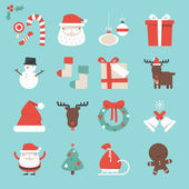 Cristmas Icons — Stock Vector