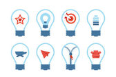 Light bulb idea icons — Stock Vector