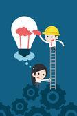 Business teamwork — Stock Vector