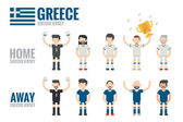 Greece soccer team — Stockvektor