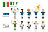 Italy soccer team character — Stockvektor