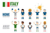 Italy soccer team character — Stock Vector