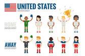 United States soccer team — Stock Vector