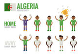 Algeria soccer icons — Stock Vector