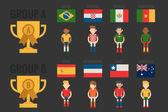 Soccer icon group A — Stock Vector