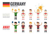Germany soccer team — Stock Vector