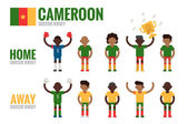 Cameroon soccer team character — Stock Vector