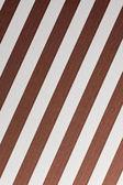 Brown and white diagonal stripes — Stock Photo