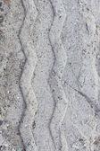 Tire tracks on sand — Stock Photo