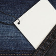 Jeans Tag — Stock Photo