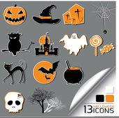 Halloween Icons — Stock Photo