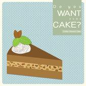 Kahve bademli kek — Stok fotoğraf