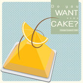 Orange Custard Cake — Stock Photo