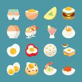 Egg Menu — Stock Vector