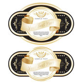 Set of ornate labels with Gold Tapes. — Stock Vector