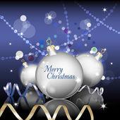 Nový rok téma. karta s novoroční zvony na zlaté pozadí. — Stock vektor
