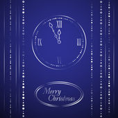 New Year Theme. Card with Christmas motives on dark blue Background. — Vecteur