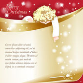 New Year Theme. Christmas card with an angel. — Vector de stock