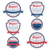 Vector set of colored sport emblems. — Stock Vector