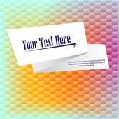 Card on color background. — Stock Vector