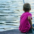 Boy Fishing — Stock Photo