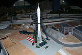 Space rocket in miniature — Stock Photo