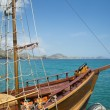 Schooner on the berth — Stock Photo