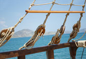 Element of sailing boat — Stock Photo