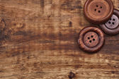 Old wooden buttons — Stock Photo