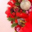 Christmas balls with ornaments — Stock Photo