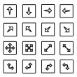 Arrows icons set — Stock Vector