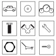 Auto parts icon — Stock Vector