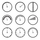 Gauges icons set — Stock Vector