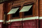 Houten venster — Stockfoto