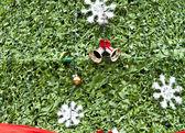 Red satin gift bow. Ribbon — Stock Photo