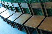 Cadeiras de madeira — Fotografia Stock