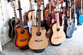 Set of guitars — Stock Photo