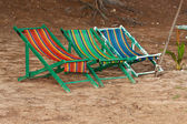 Plážové lehátko — Stock fotografie