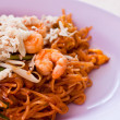 Thai food Pad thai , Stir fry noodles with shrimp — Foto Stock