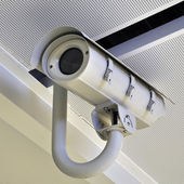 Security Camera or CCTV at airport — Stock Photo