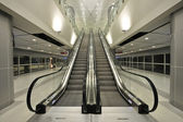 The escalator moving — 图库照片