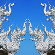 Stock Photo: Art architecture of Wat rong khun temple in thailand