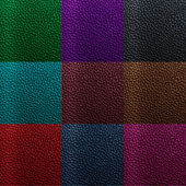 Leather texture collection — Stock Photo