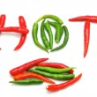 Hot Chilli on white background — Stock Photo