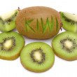 Kiwi fruit on a white background — Stock Photo #17980487