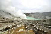 Kawah ijen volcano at Indonesia — Stock Photo