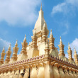 Temple with blue sky in Laos — Stock Photo