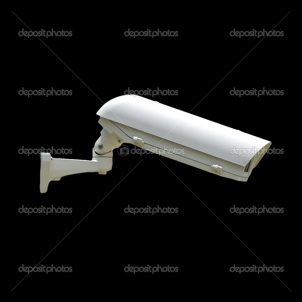Security Camera isolate on black background  Stock Photo #18019157