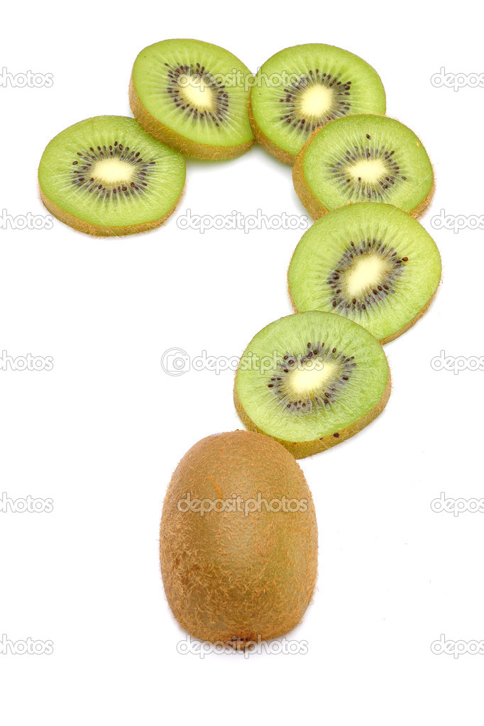 Kiwi fruit on a white background — Stock Photo #18038835