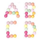 Caramelle colorate alfabeto insieme — Foto Stock